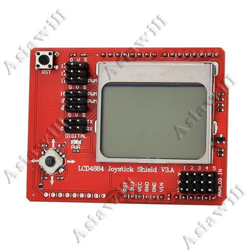 Asiawill® Lcd 4884 Shield Rocker Expansion Board - Red