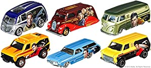 Star Trek 50th Anniversary Pop Culture cars Hot Wheels Space Car Set Deco Delivery, Ford & Chevy, Quick D-Livery Models 2014 & 2016