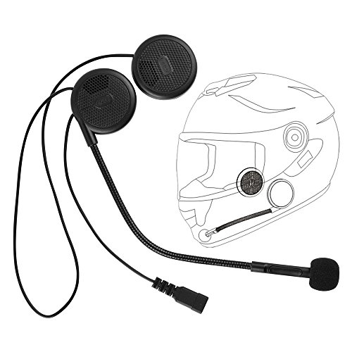 ilm stealth motorcycle helmet bluetooth headset for full face modular open fa. Black Bedroom Furniture Sets. Home Design Ideas