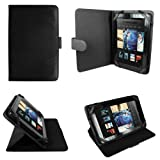 CaseGuru Carte Stand Case Cover Featuring Security Straps, Magnetic Snap Closure & Pull Out Viewing Stand Compatible with Kindle Fire (Black)