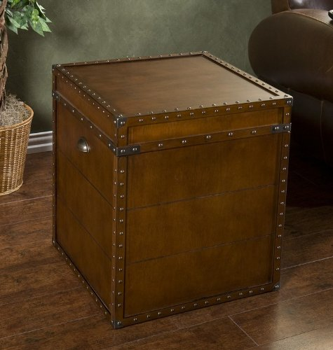 Cheap End Table Storage Trunk with Nail Head Trim in Walnut Finish (AZ00-47975×21113)