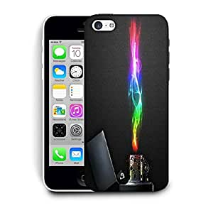 Snoogg Zippo Printed Protective Phone Back Case Cover For Apple Iphone 5C