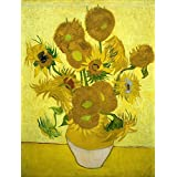 """15 Sunflowers By Van Gogh - Van Gogh Famous Oil Paintings Art Print - """"Top 10 Van Gogh Paintings"""" Collection -..."""