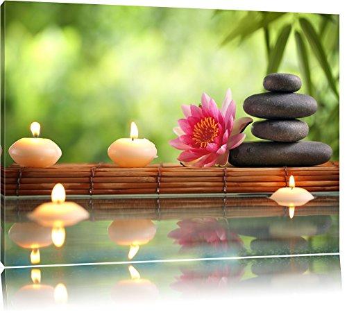 N nuphar magnifique avec pierres zen dans le temple sur for Tableau mural zen