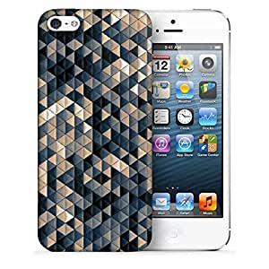 Snoogg Small Triangle Pattern Design Printed Protective Phone Back Case Cover For Apple Iphone 5 / 5S