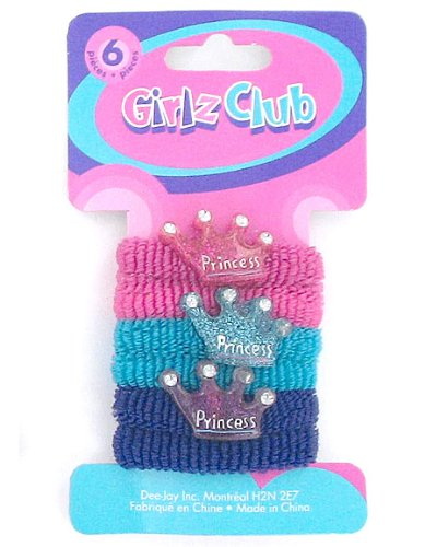 6Pc Princess Hair Ties (Case of 144 )
