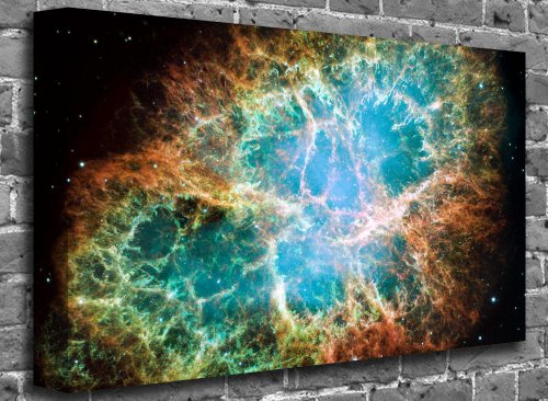 "Texted Galaxy Abstract Modern Canvas Art Canvas Print Picture print Size: (32"" x 20"")"