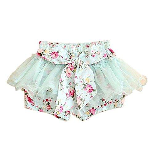 Minetom Cute Vestiti Bambini Gonna Balletto Stampa Floreale Net Gonna ( Blu 140-146 ( 9-10 year ) )