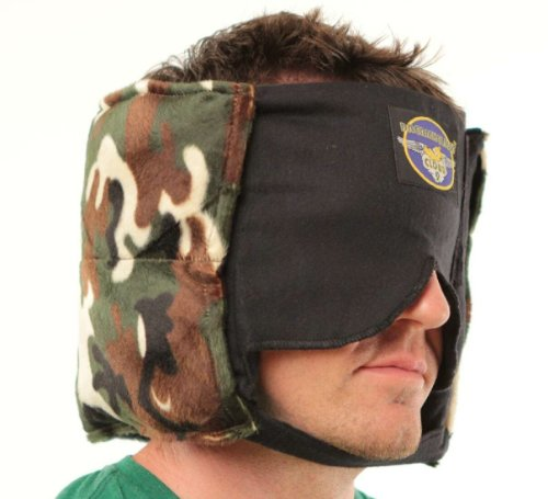 Camo Camping Buddy Sleep Mask Pillow for Men - Amazing, Patented, Sound Muffling Travel-Camping Pillow