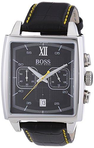 Hugo Boss 1512733 - Reloj cronógrafo de cuarzo para hombre, correa de cuero color negro (cronómetro)