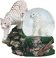 4.25 Inch Two White Tigers Snow Globe