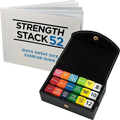 Fitness Dice Box Set (Black) by Strength Stack 52. Bodyweight Exercise Workout Game. Designed by a Military Fitness Expert. Video
