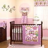 CoCo & Company Owl Wonderland 4 Piece Crib Bedding Set