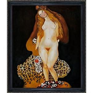 overstockArt KL1692-FR-982320X24 Klimt Adam and Eve with La Scala Frame, Black and Gold Finish