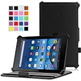 MoKo Case for Fire 7 2015 - Slim-Fit Multi-angle Folio Cover for Amazon Fire Tablet (7 inch Display - 5th Generation, 2015 Release Only), BLACK