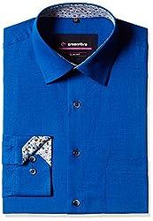 Greenfibre Men's Formal Shirt (68PV_44_Royal Blue)