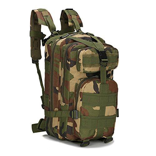 Uomini Camo outdoor multi-purpose zaino tattico zaino zaini borsa 45*25*23cm,Jungle camouflage