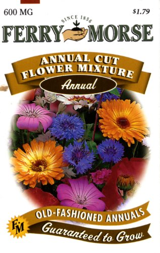 Ferry-Morse Annual Flower Seeds 1009 Annual Cut Flower Mixture 600 Milligram Packet