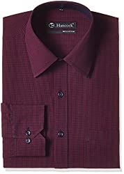 Hancock Men's Formal Shirt (4516maroon_42)