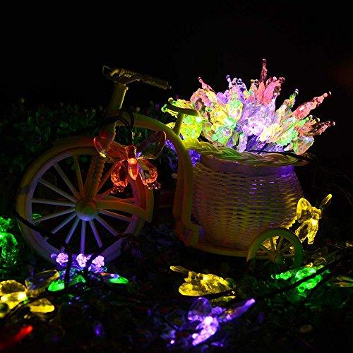Electric Butterfly String Lights : lederTEK Solar Christmas Lights 24.6ft 7.5m 40 LED 8 Modes Butterfly Solar Fairy String Lights ...