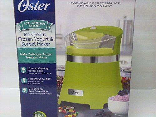 Oster Ice Cream, Frozen Yogurt and Sorbet Maker - Makes 1.5 Quarts - Green