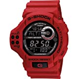Casio Mens Red G-Shock Twin Sensor - Altimeter - Barometer - Thermometer (Color: Red)