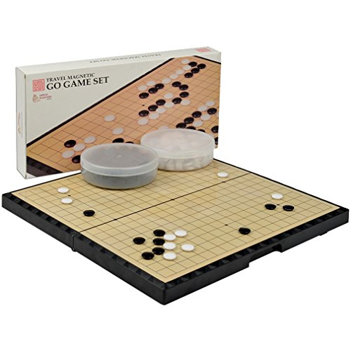magnetic-go-game-board-w-single-convex-plastic-stones-set-portable-and-travel-ready-147-x-146-x-11