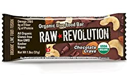 Raw Revolution Organic Live Food Bars, Chocolate Crave, 1.8-Ounce Bars (Pack of 12)