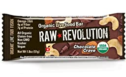 Raw Revolution Organic Live Food Bar, Chocolate Crave, 1.8 Ounce (Pack of 12)