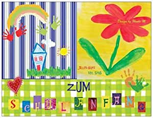 spr chekarte spr che zum schulanfang zur einschulung kinder schule blumen feier party. Black Bedroom Furniture Sets. Home Design Ideas