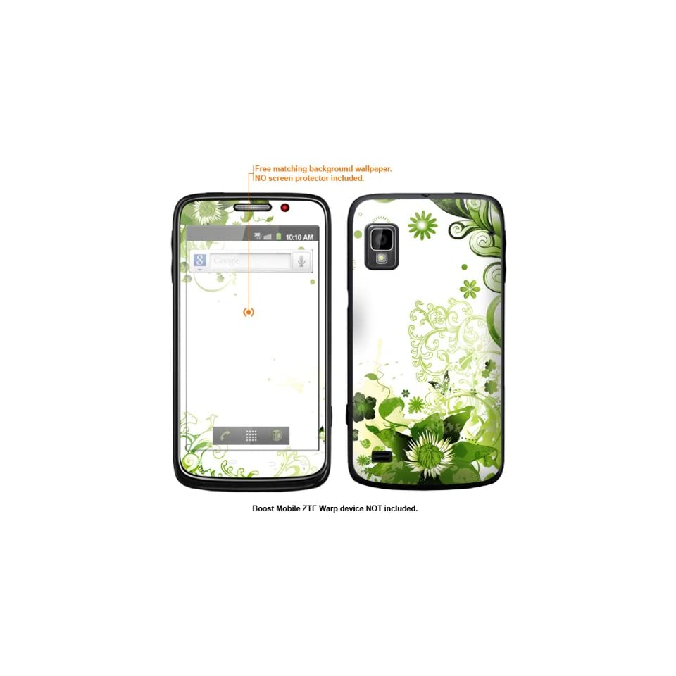 Protective Decal Skin Sticker for ZTE Warp  Boost Mobile version  case cover ZTEwarp 132