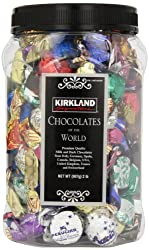 KIRKLAND Signature PREMIUM CHOCOLATES of the WORLD ASSORTMENT JAR NET WT 2 Lb...