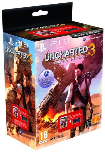 Uncharted 3 : L'Illusion de Drake + DualShock noire [PS3]