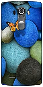 Snoogg Lonely Butterfly Designer Protective Back Case Cover For LG G4