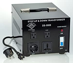 DynastarTM 5000 watts Voltage Converter Transformer - Step Up & Step Down 110 120 volts 220 240 volt -5 YR Warranty
