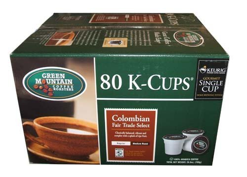 Green Mountain Columbian Fair Trade Select K-Cups 80 Count