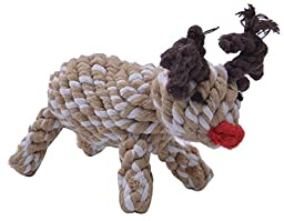 Christmas Reindeer Dog Rope toys Cute for Small Dogs Chewing
