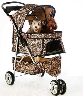 All Terrain Extra Wide 3 Wheels Pet Dog Cat Stroller w/RainCover