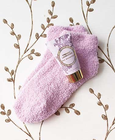 Cozy Sock and Lotion Gift-Boxed Sets French Lavender