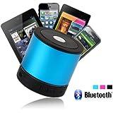 3 en 1 Mini Enceinte Bluetooth Vibrations Bleu Mini Haut-parleur Bluetooth, TF carte lecteur de musique, radio FM pour musique maison, voyage, fitness, sport avec microphone intégré pour composer et recevoir des appels - compatible avec iphone 5, 4s, 4, ipad, ipod, samsung, HTC, sony, Nokia et d'autre téléphone portable avec fonction bluetooth