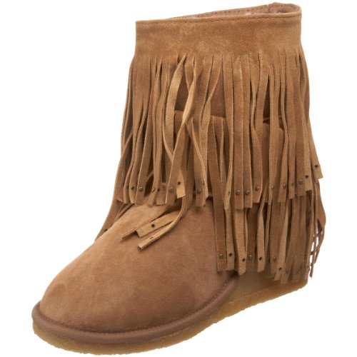 Koolaburra Women's Savannity Fringe Boot, Chestnut, 8 M US
