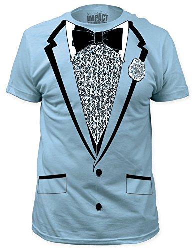 Impact Original Retro Prom Tuxedo Light Blue T-Shirt,2XL (Blue Tuxedo T Shirt compare prices)