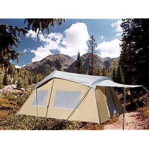 Trek four season cotton canvas tent 10 16 sleeps 9 for Canvas tent fly
