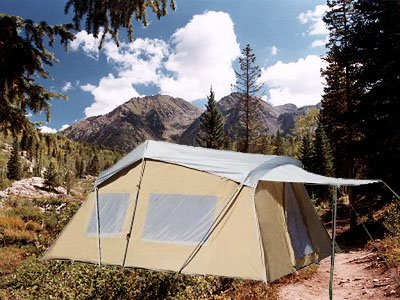 Trek Four Season, Cotton Canvas Tent, 10×16 (Sleeps 9) Full Rain FLY