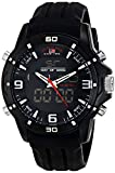 U.S. Polo Assn. Sport Mens US9490 Analog-Digital Watch With Black Silicone Band