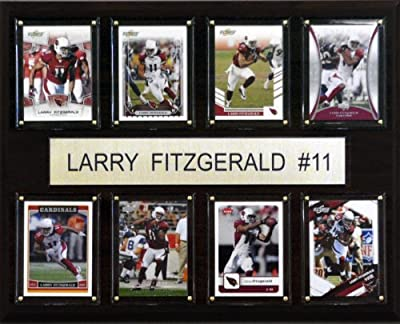 NFL Larry Fitzgerald Arizona Cardinals 8 Card Plaque