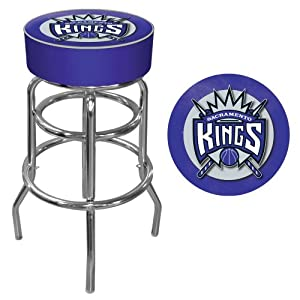 NBA Sacramento Kings Padded Swivel Bar Stool by Trademark Games
