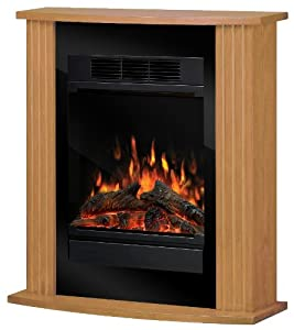 Compact Oak Effect Electric Fire Suite Dimplex Kitchen Home