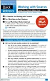 img - for Work with Sources Using MLA with 2009 MLA Update: A Bedford/St. Martin's Quick Reference book / textbook / text book