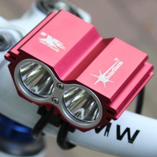 Bicycle Headlight Bike Light 2 X Cree Xm-L Xml U2 Led X2 2000Lm Bicycle Light 4 Mode (Light Only)